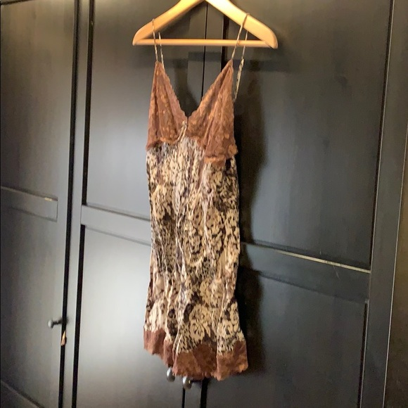 Mary Green Silk Chemise Floral Leopard Print